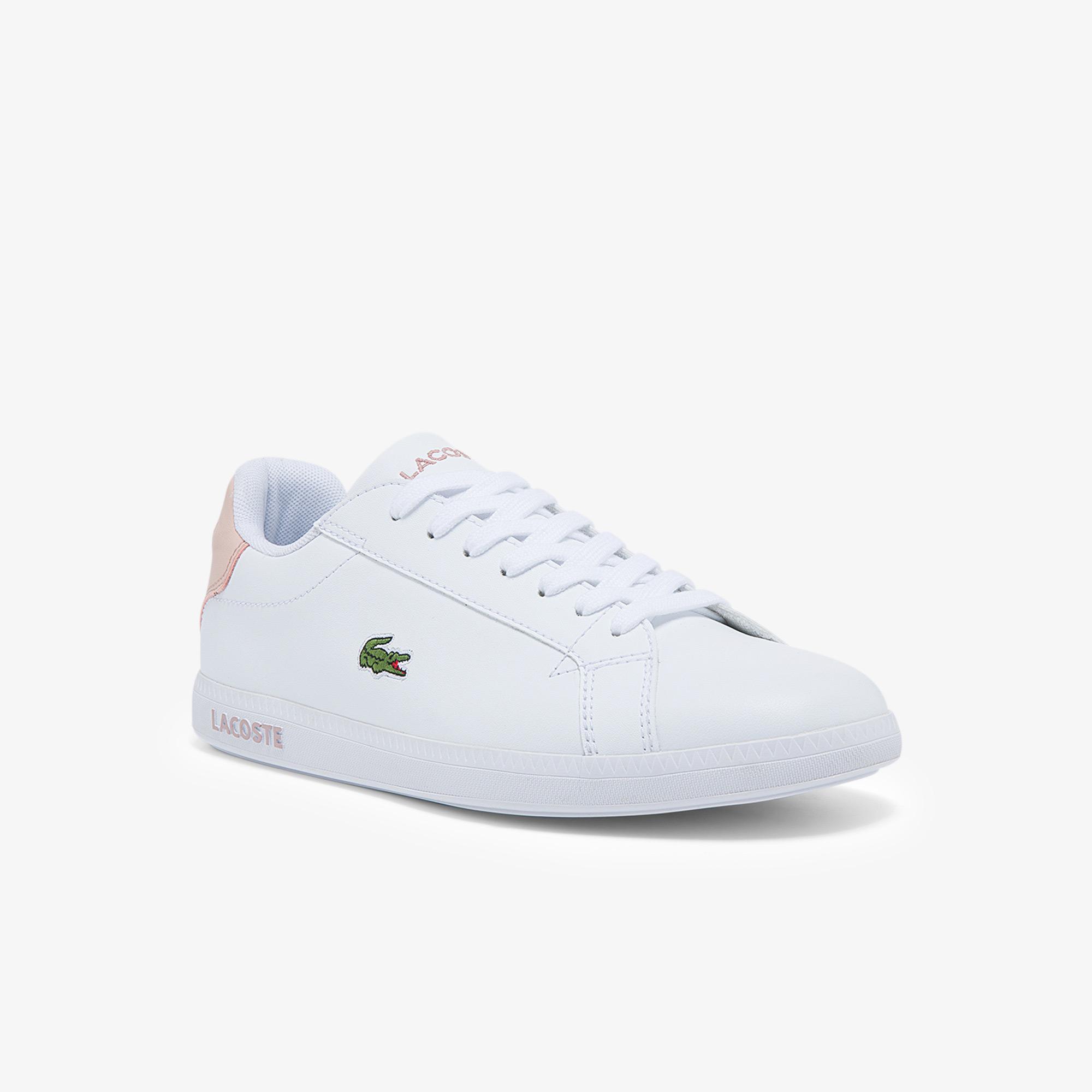 Lacoste Graduate Bl 21 1 Sfa Kadın Beyaz - Açık Pembe Sneaker