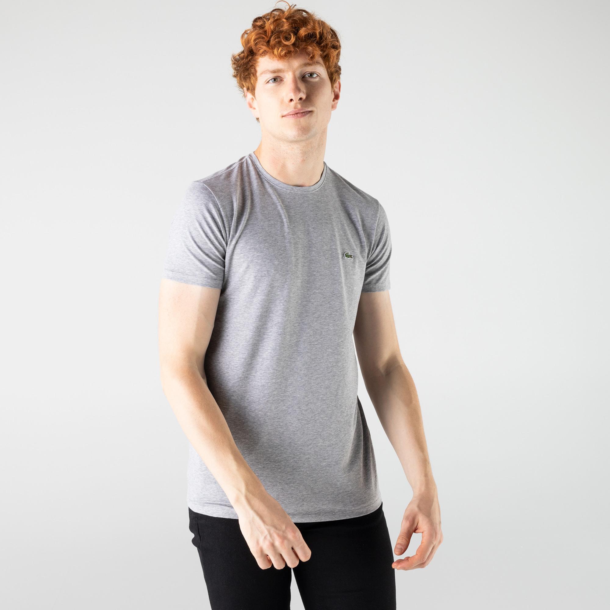 Lacoste Erkek Regular Fit Bisiklet Yaka Gri T-Shirt