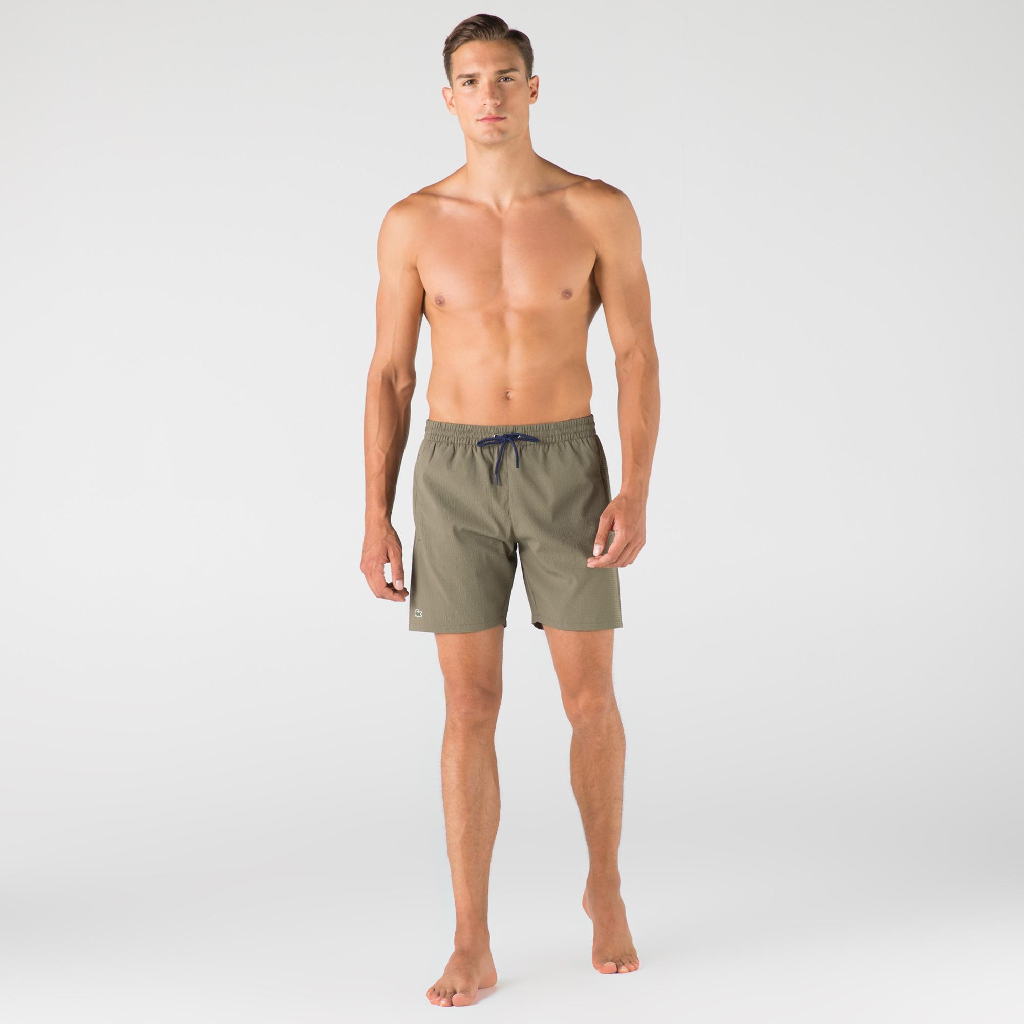 Lacoste Erkek Haki Şort Mayo