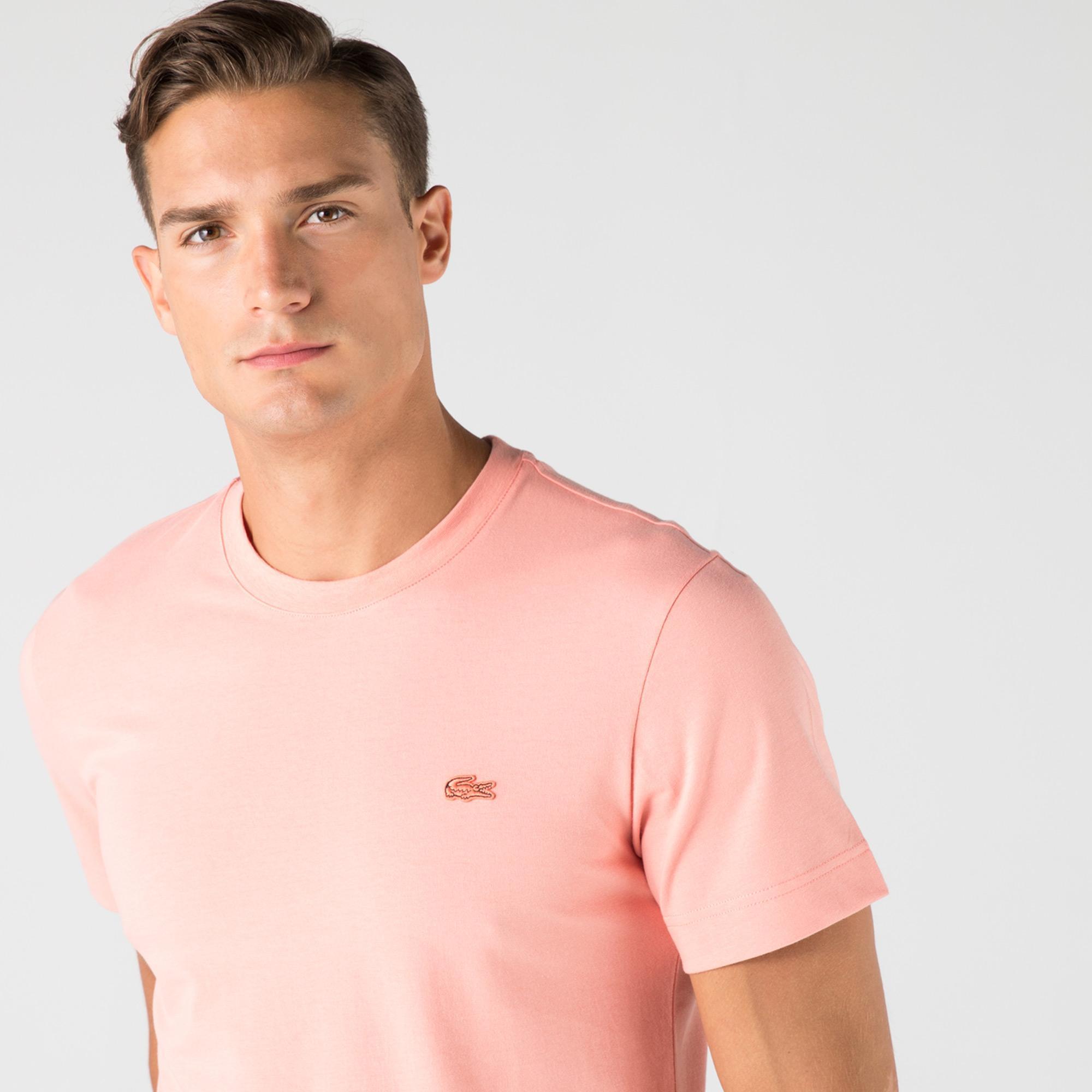 Lacoste Erkek Bisiklet Yaka Açık Pembe T-Shirt