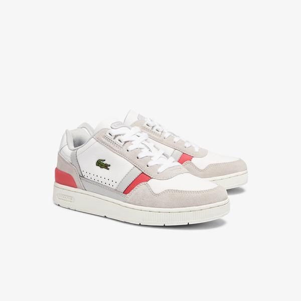 Lacoste T-Clip 0721 1 Sfa Kadın Beyaz - Pembe Sneaker