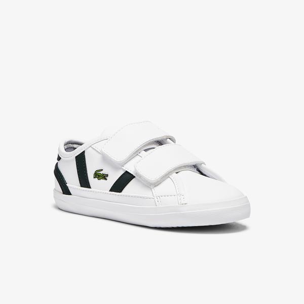 Lacoste Sideline 0721 1 Cui Çocuk Beyaz - Koyu Yeşil Sneaker