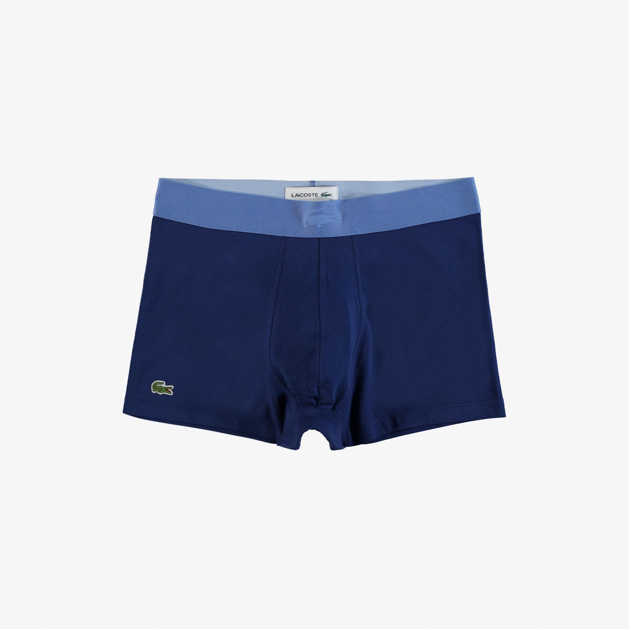 Lacoste Erkek Baskılı Mavi - Lacivert 3'lü Boxer