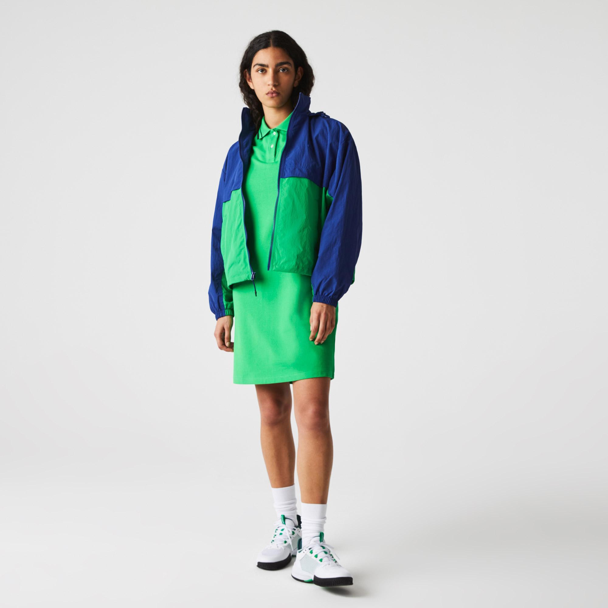 Lacoste Kadın Kapüşonlu Renk Bloklu Renkli Rüzgarlık