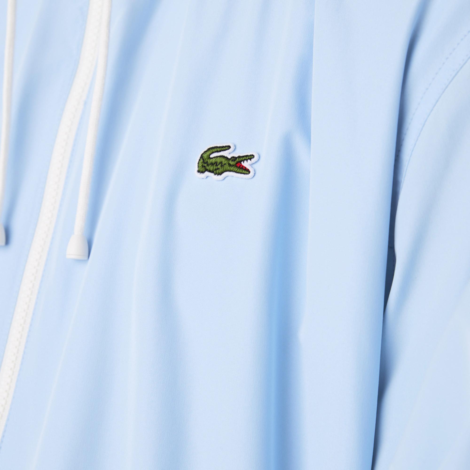Lacoste Erkek Kapüşonlu Açık Mavi Rüzgarlık