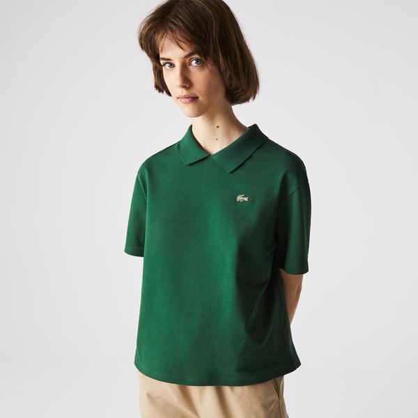 Lacoste L!VE Kadın Regular Fit Yeşil Polo