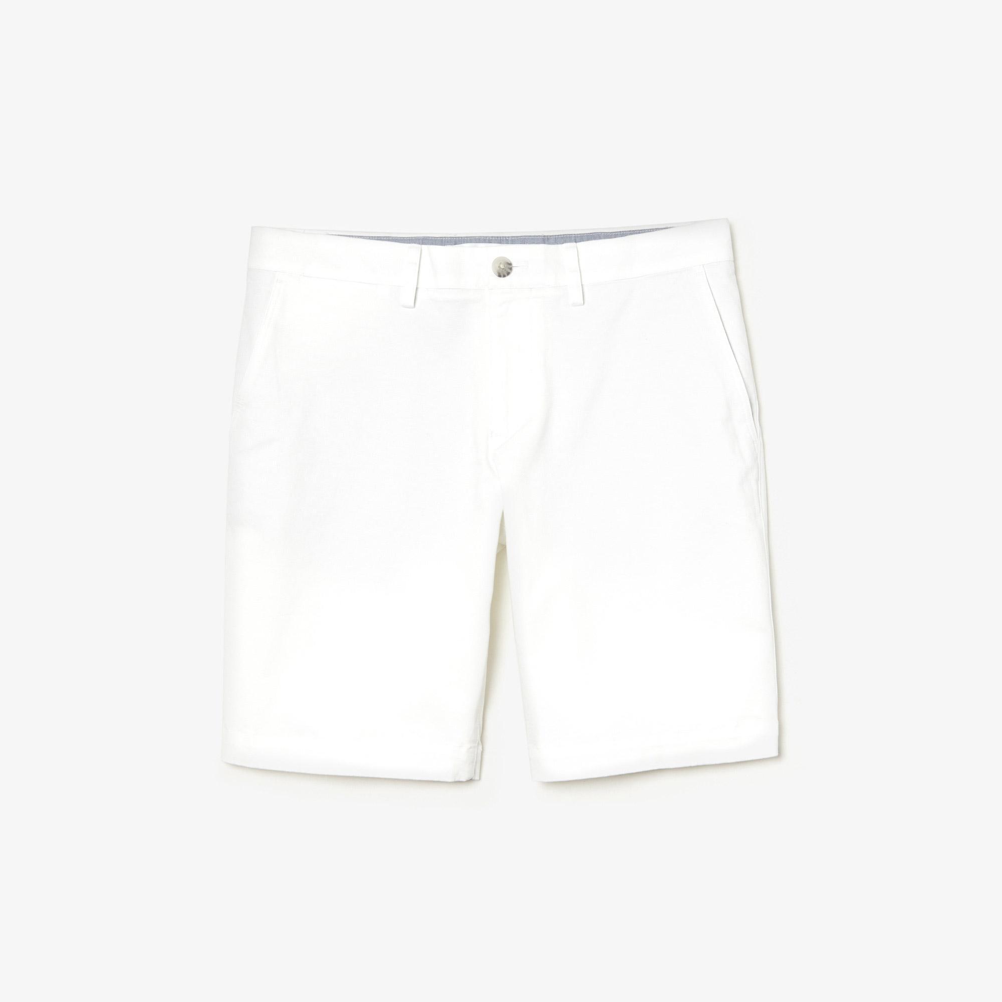 Lacoste Erkek Slim Fit Beyaz Bermuda