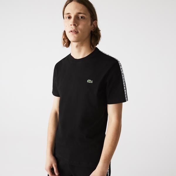 Lacoste Erkek Regular Fit Baskılı Bisiklet Yaka Siyah T-Shirt