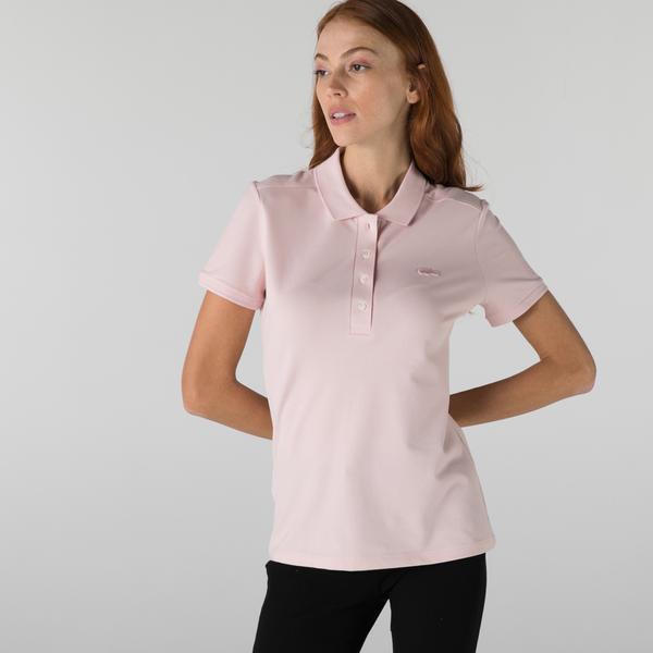 Lacoste Kadın Slim Fit Açık Pembe Polo