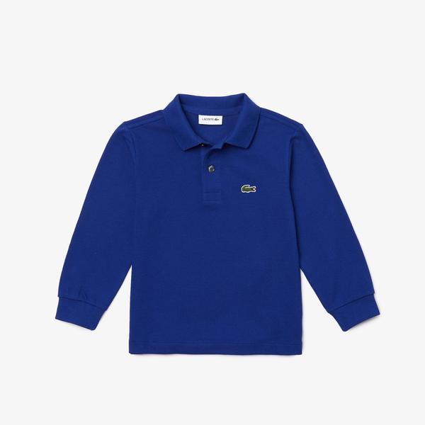 Lacoste Erkek Çocuk Regular Fit Uzun Kollu Mavi Polo