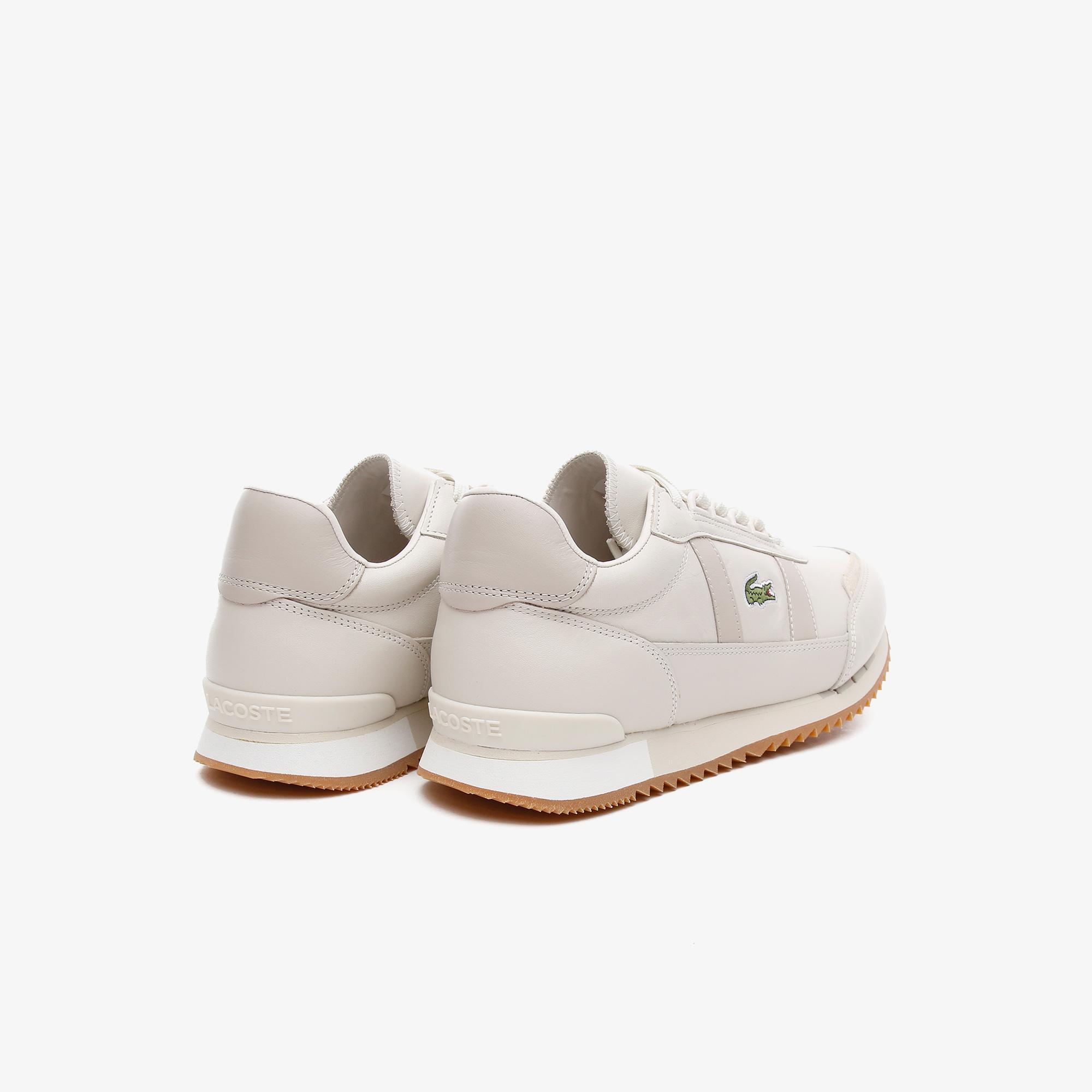 Lacoste Partner Retro 0721 1 Sma Erkek Krem Sneaker