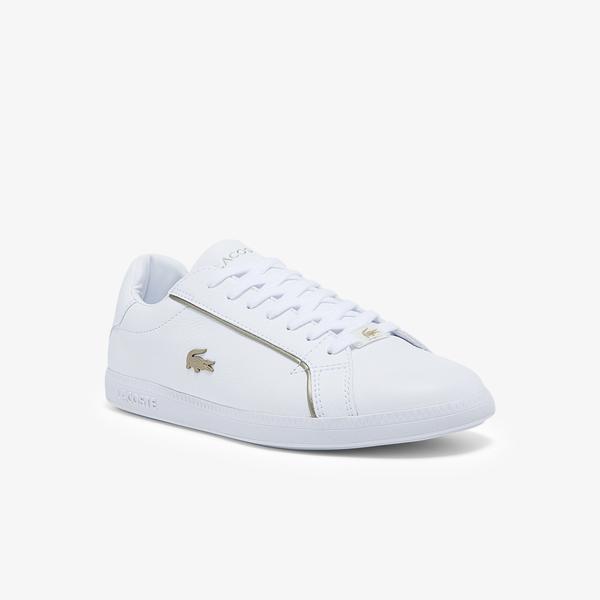 Lacoste Graduate 0721 1 Sfa Kadın Beyaz Sneaker