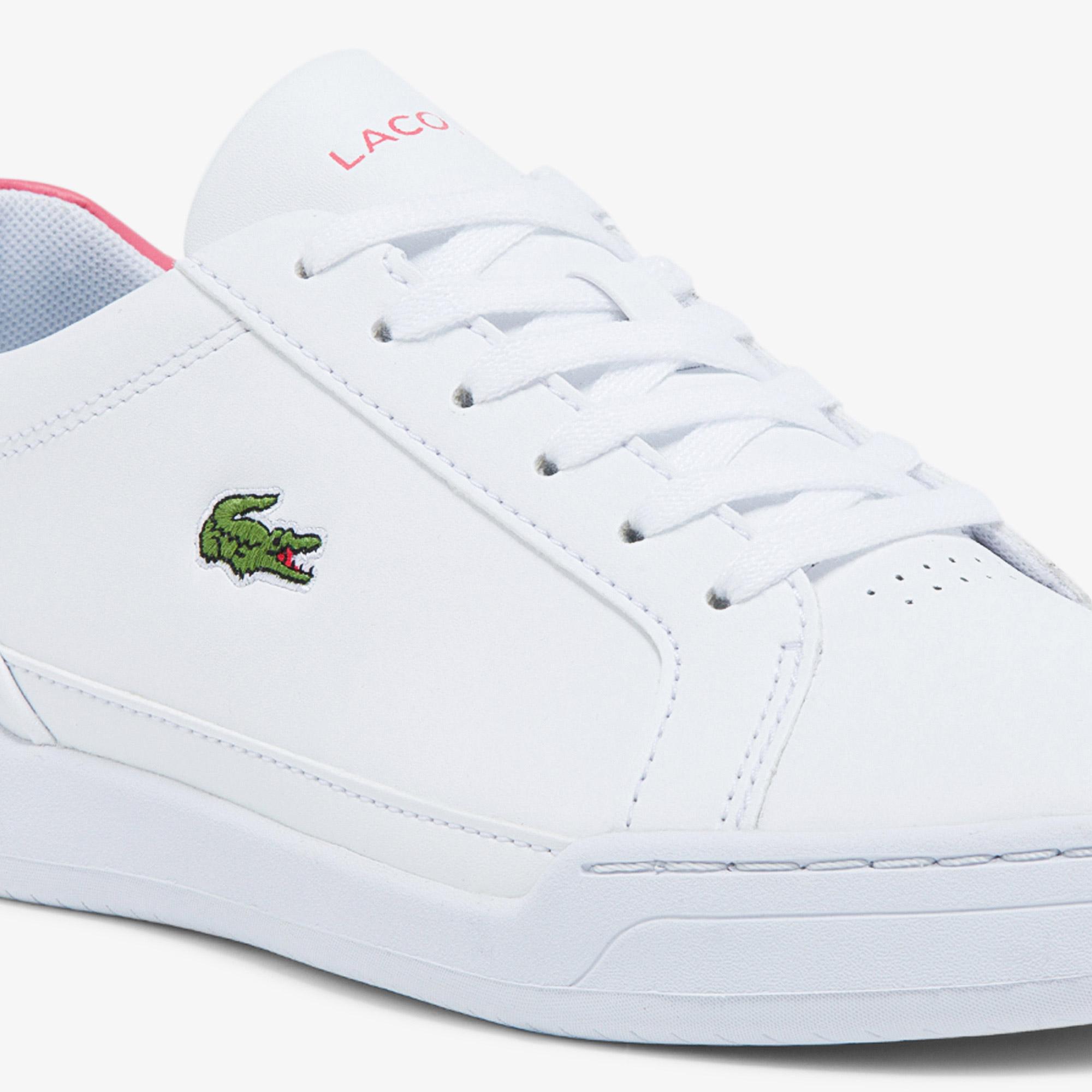 Lacoste Challenge 0121 1 Sfa Kadın Deri Beyaz - Pembe Sneaker