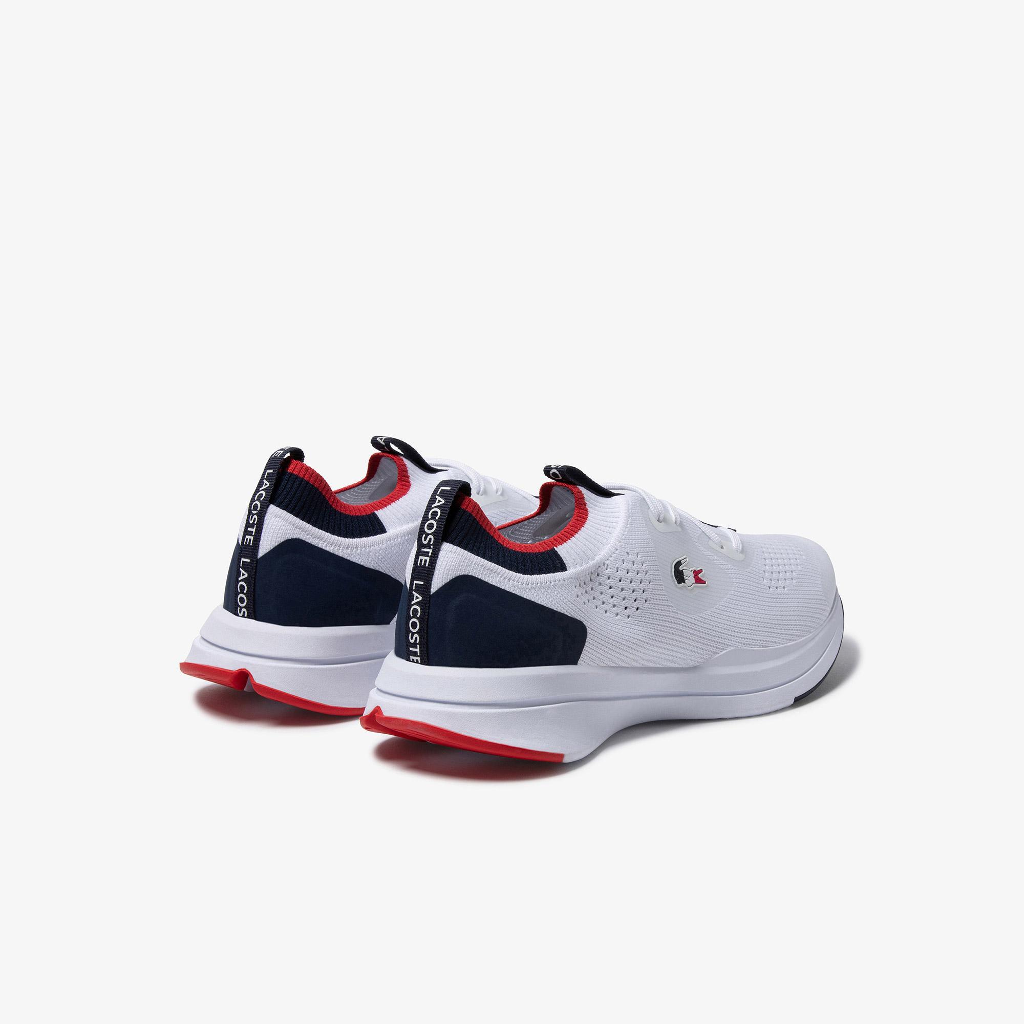 Lacoste Run Spin Knitoly Kadın Beyaz Sneaker