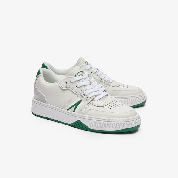 Lacoste L001 0321 1 Sfa Kadın Deri Beyaz - Yeşil Sneaker