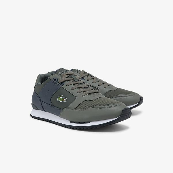 Lacoste Partner Piste 01211 Sma Erkek Haki - Beyaz Sneaker