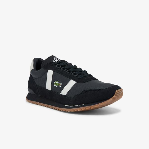Lacoste Partner Retro 01214 Sma Erkek Deri Siyah - Beyaz Sneaker