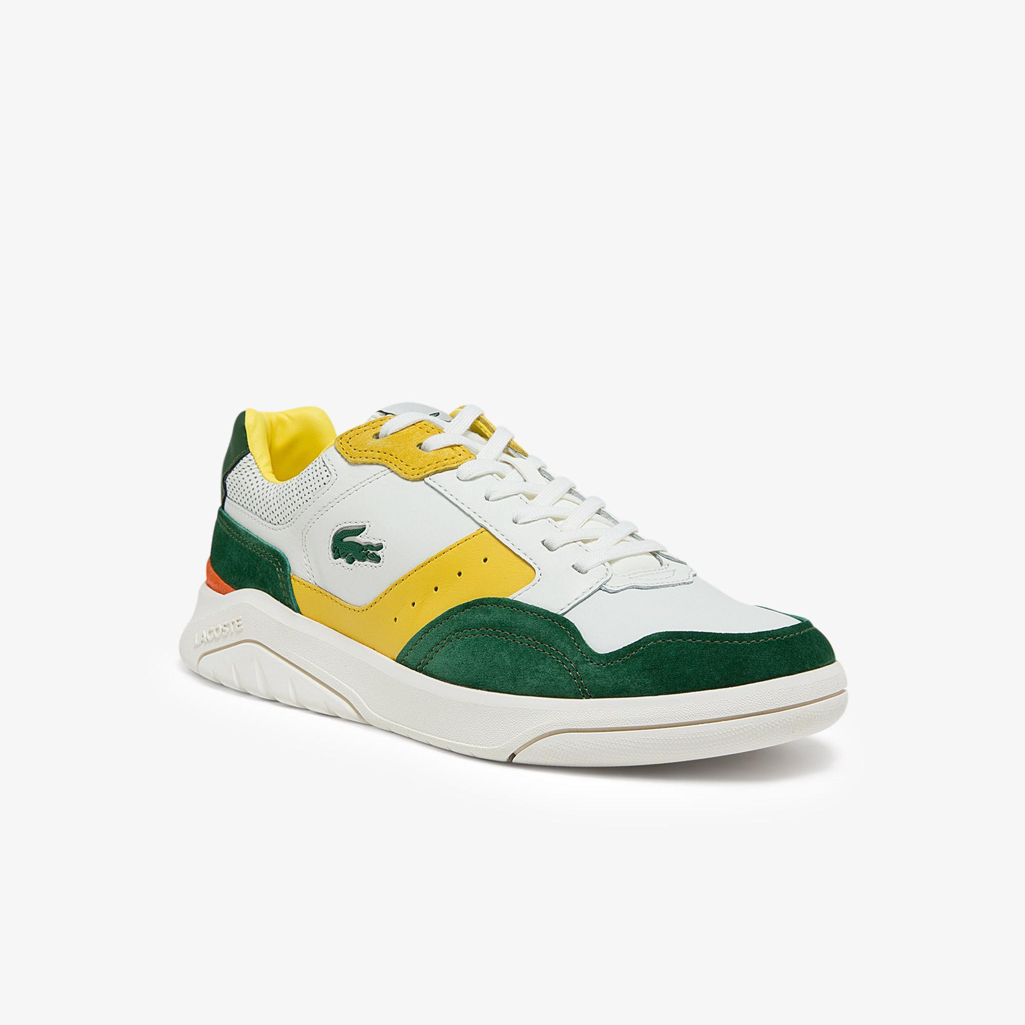 Lacoste Game Advance Luxe 01211 Sma Erkek Deri Beyaz - Yeşil Sneaker