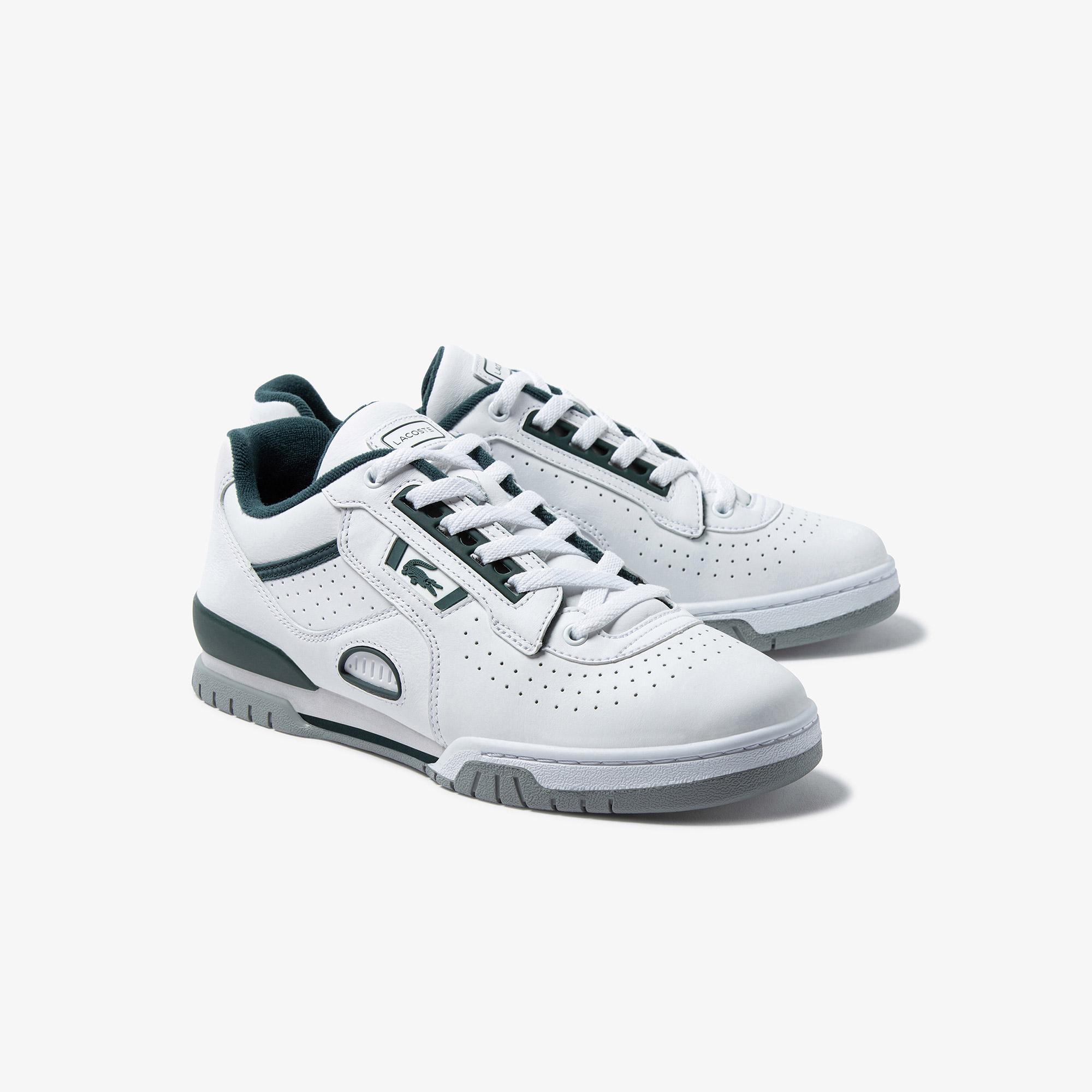 Lacoste M89 Og 0121 1 Sma Erkek Deri Beyaz - Yeşil Sneaker