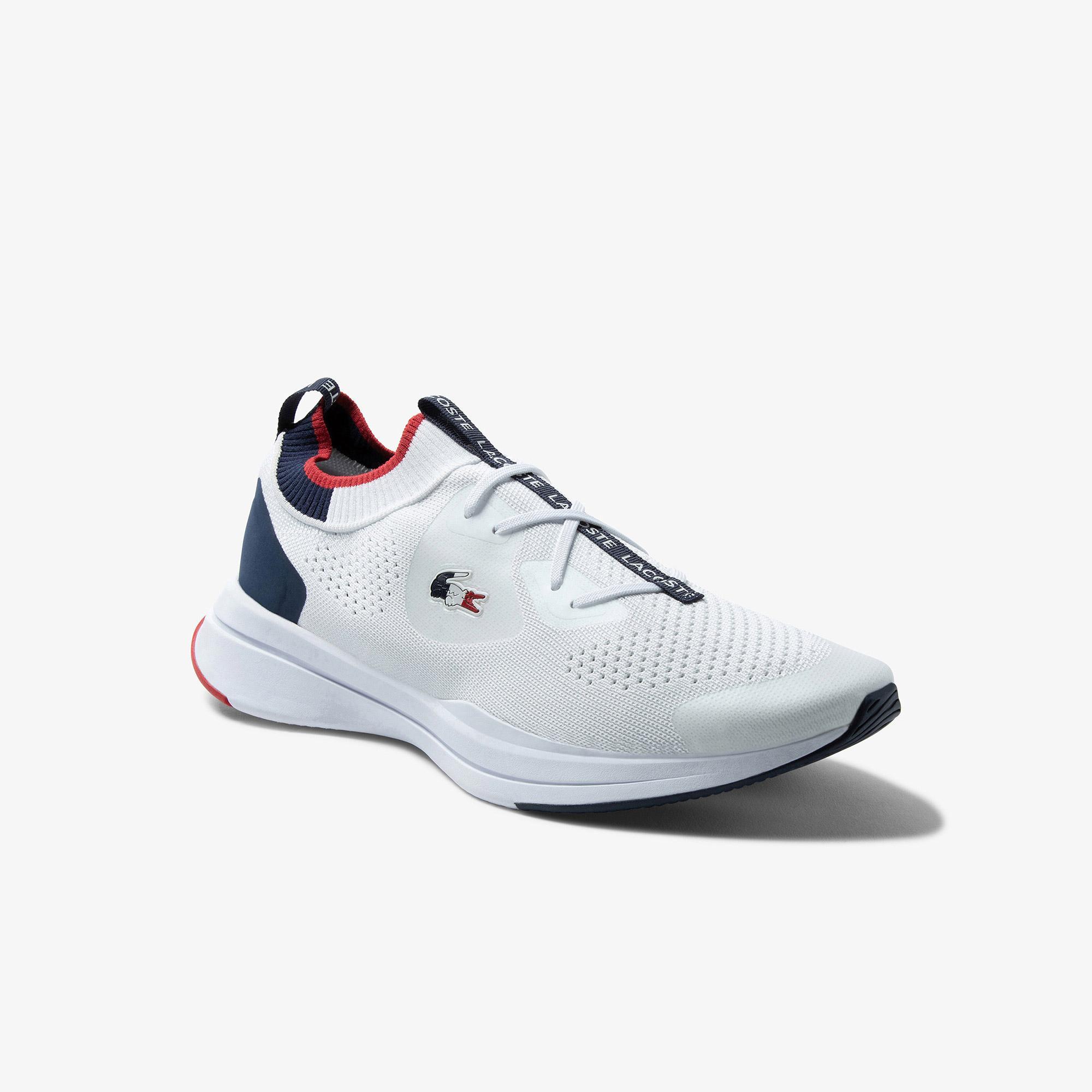 Lacoste Run Spin Knitoly Erkek Beyaz Sneaker