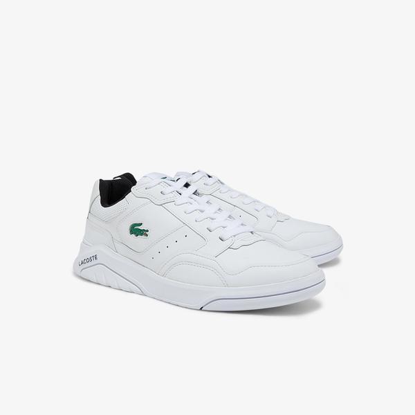 Lacoste Game Advance Luxe 01212 Sma Erkek Deri Beyaz - Siyah Sneaker