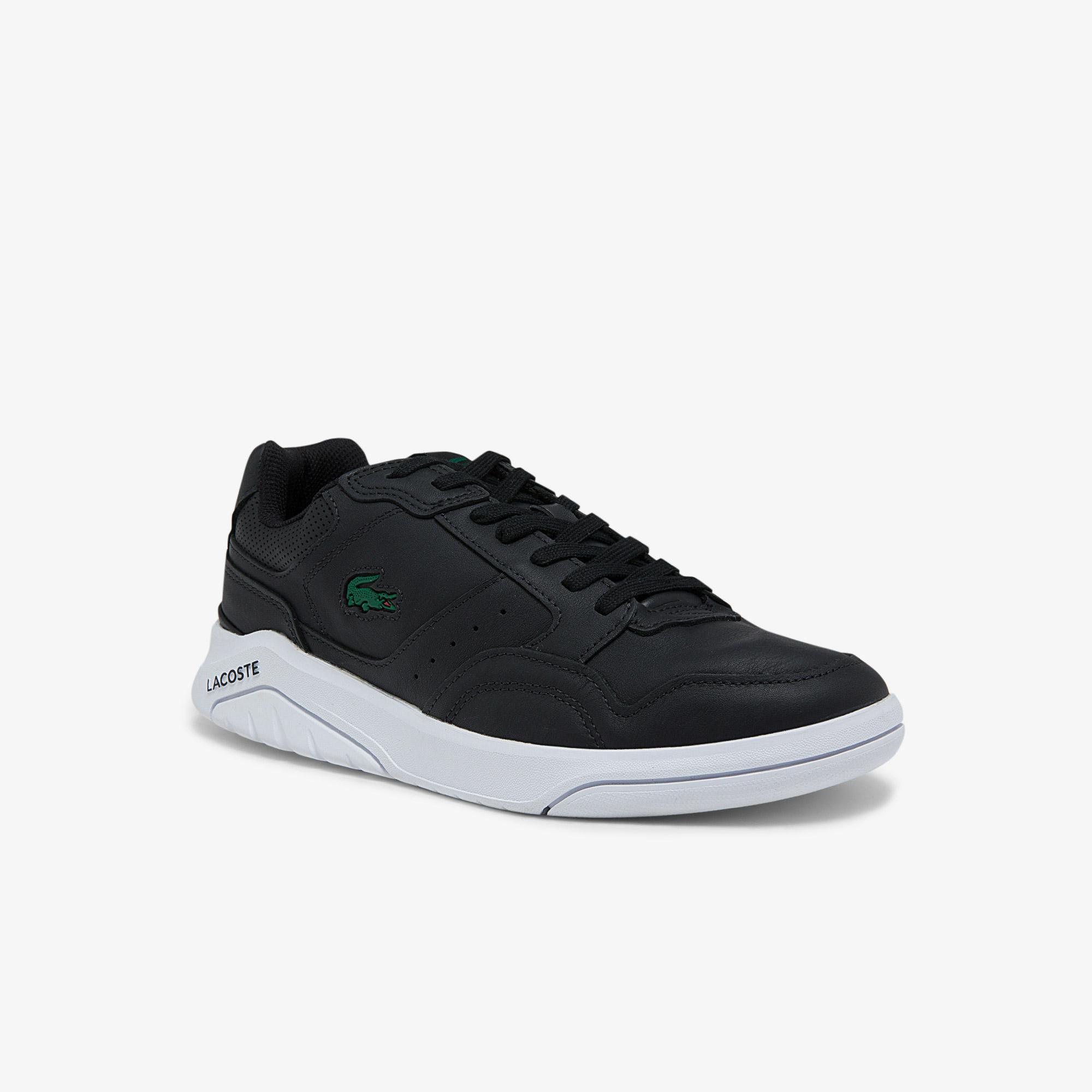 Lacoste Game Advance Luxe01212Sma Erkek Deri Siyah - Beyaz Sneaker