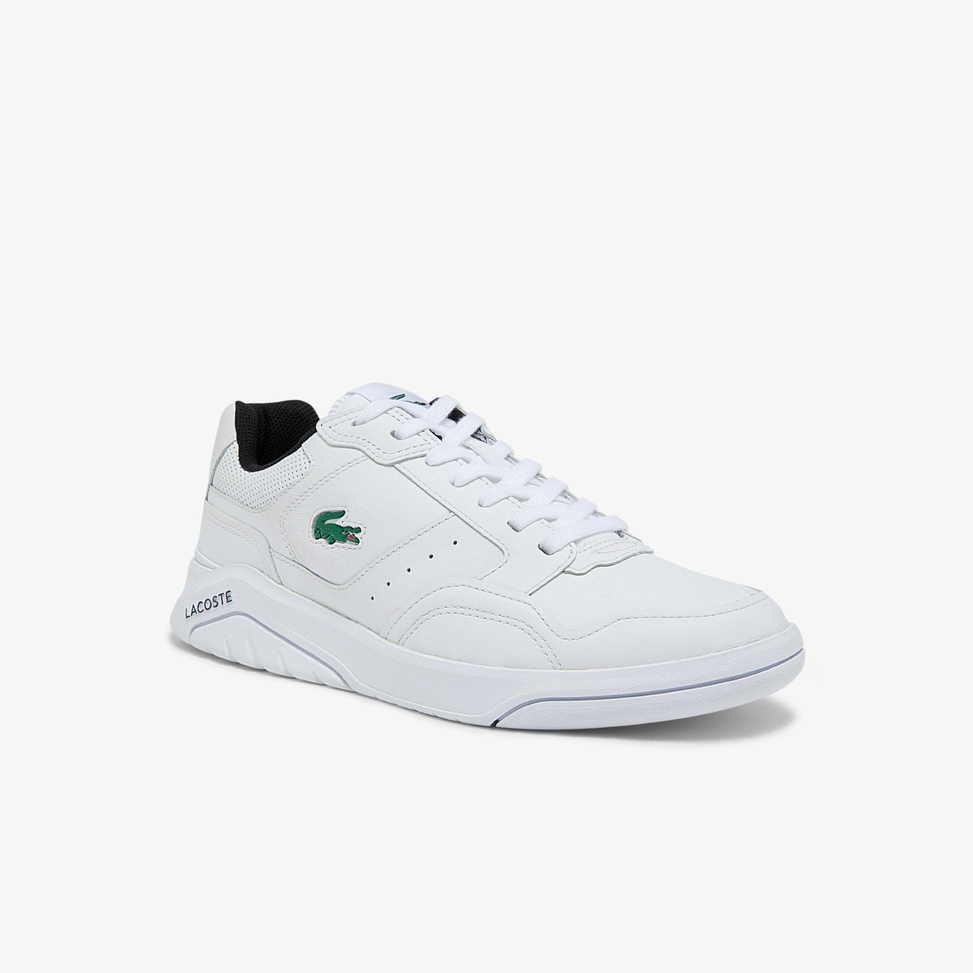 Lacoste Game Advance Luxe01212Sma Erkek Deri Beyaz - Siyah Sneaker