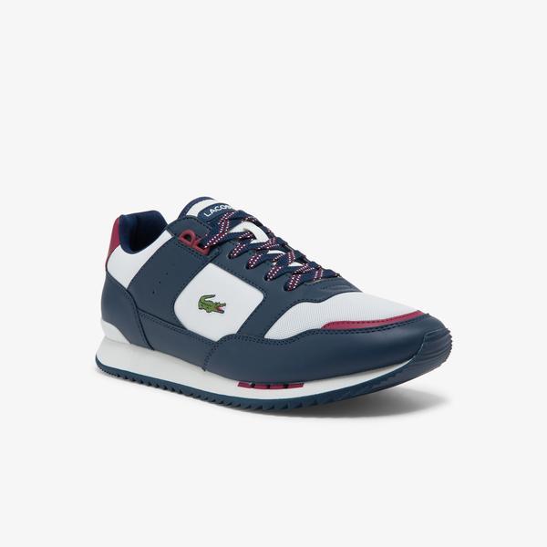 Lacoste Partner Piste 0121 3 Sma Erkek Deri Beyaz - Lacivert Sneaker