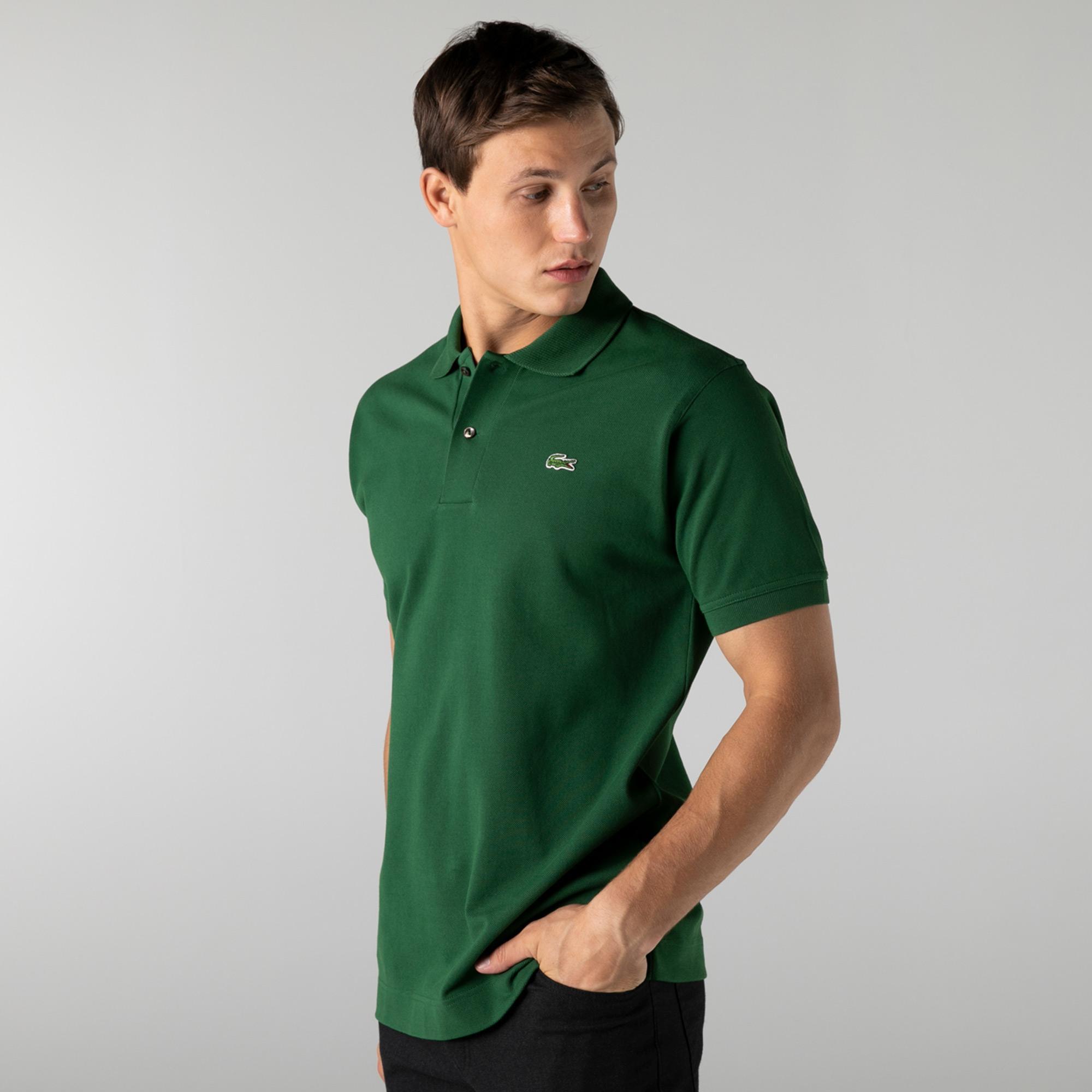 Lacoste Erkek Classic Fit Organik Pamuk Yeşil Polo