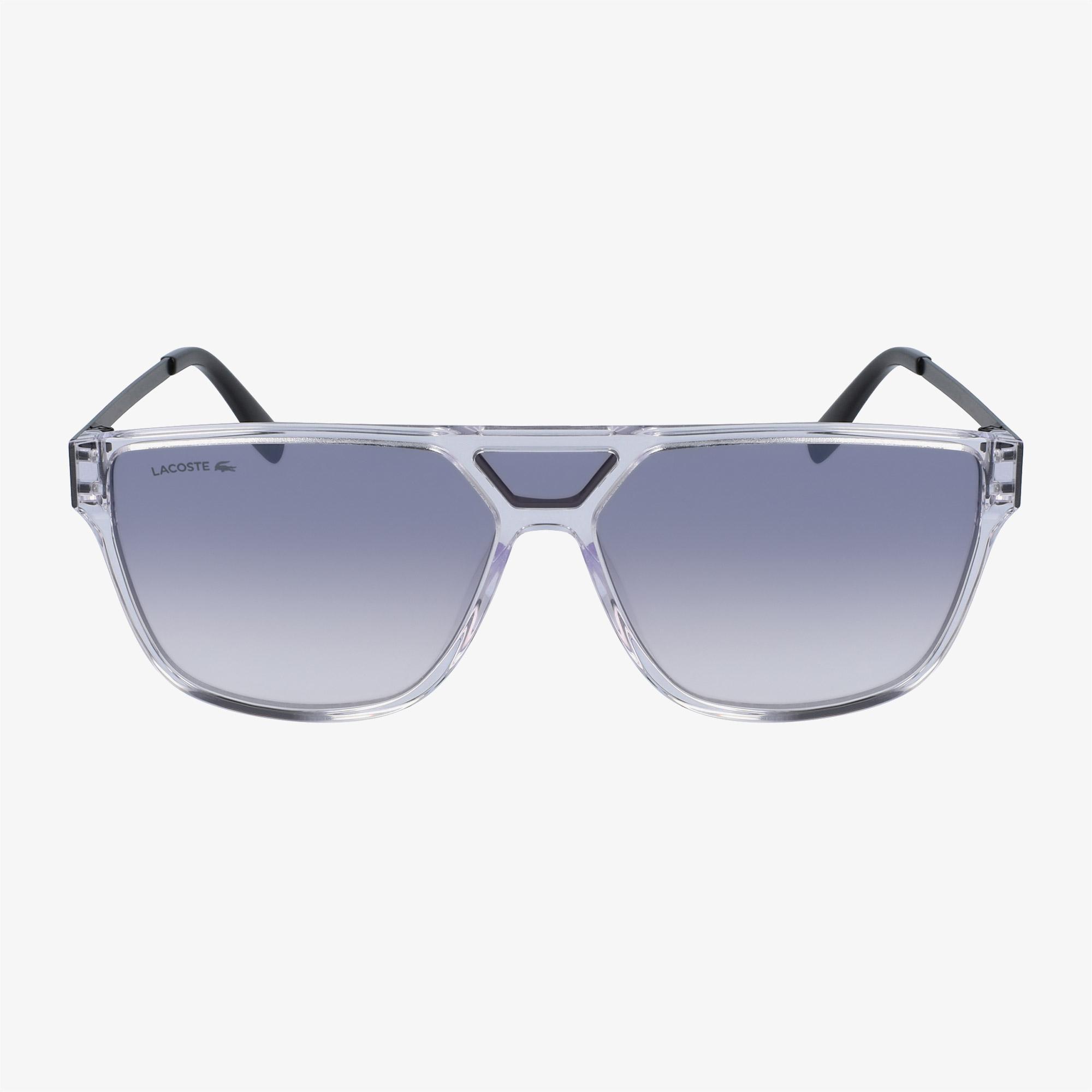 Lacoste Unisex Şeffaf Gri Güneş Gözlüğü