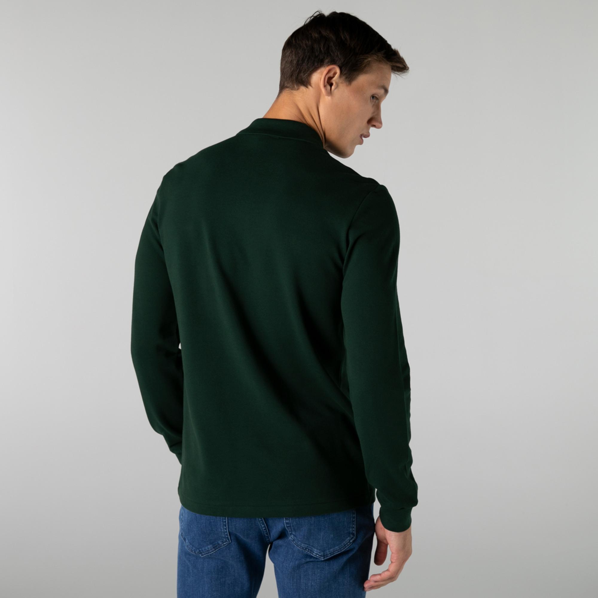 Lacoste Erkek Classic Fit Uzun Kollu Yeşil Polo