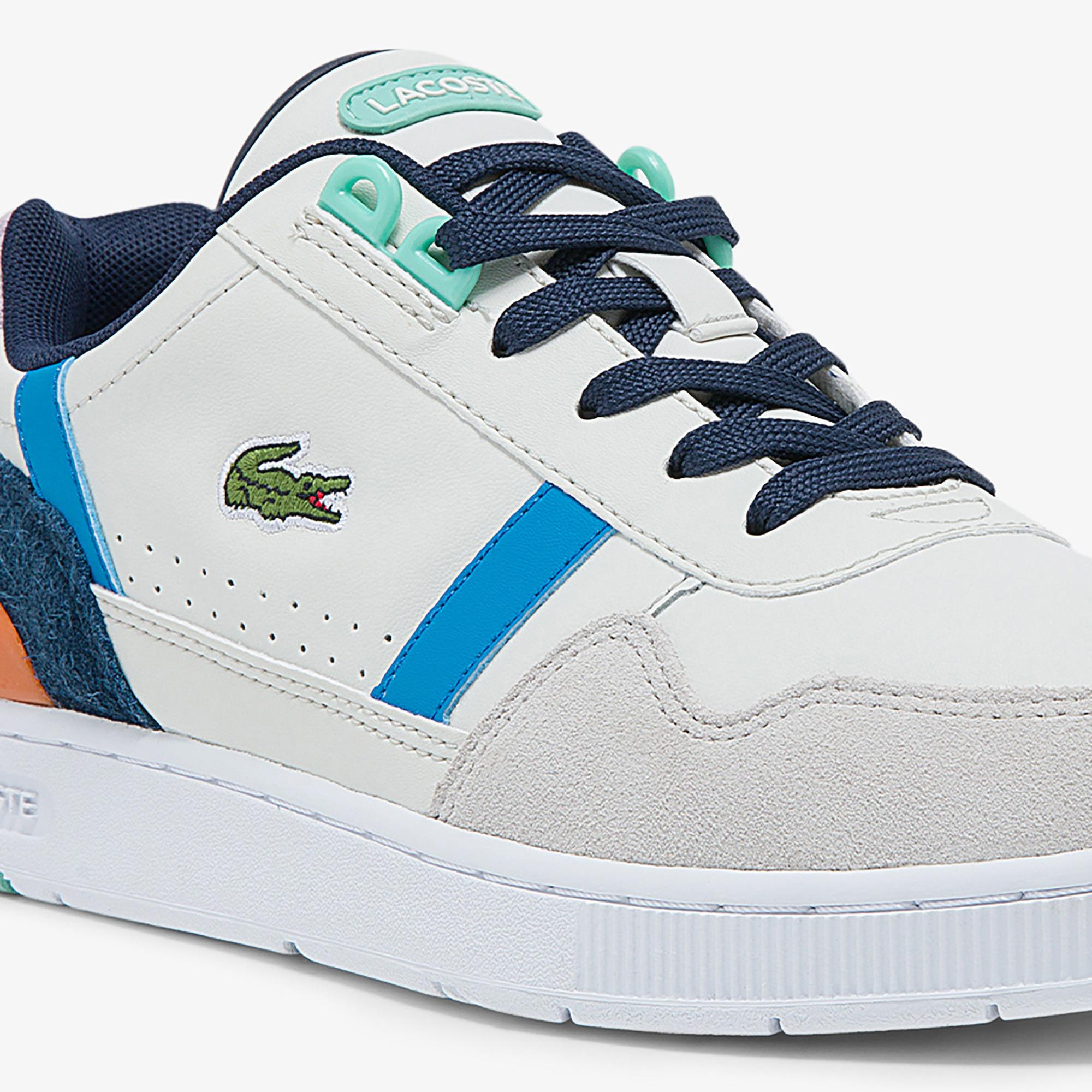 Lacoste Women's T-Clip Leather and Suede Sneakers