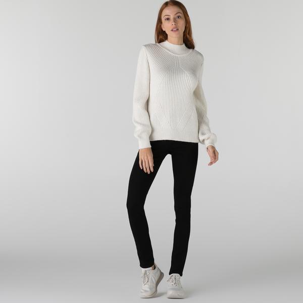Lacoste Kadın Slim Fit Siyah Denim Pantolon