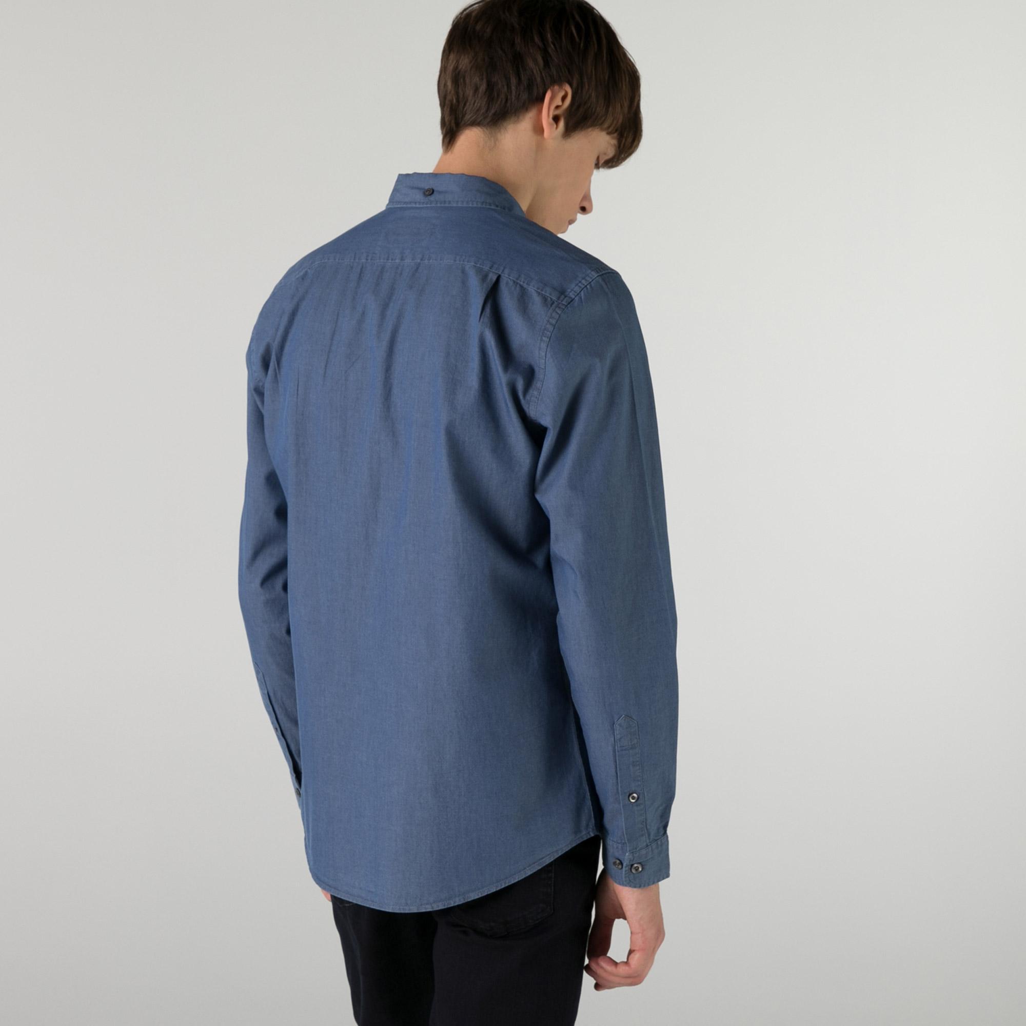 Lacoste Erkek Slim Fit Açık Denim Gömlek