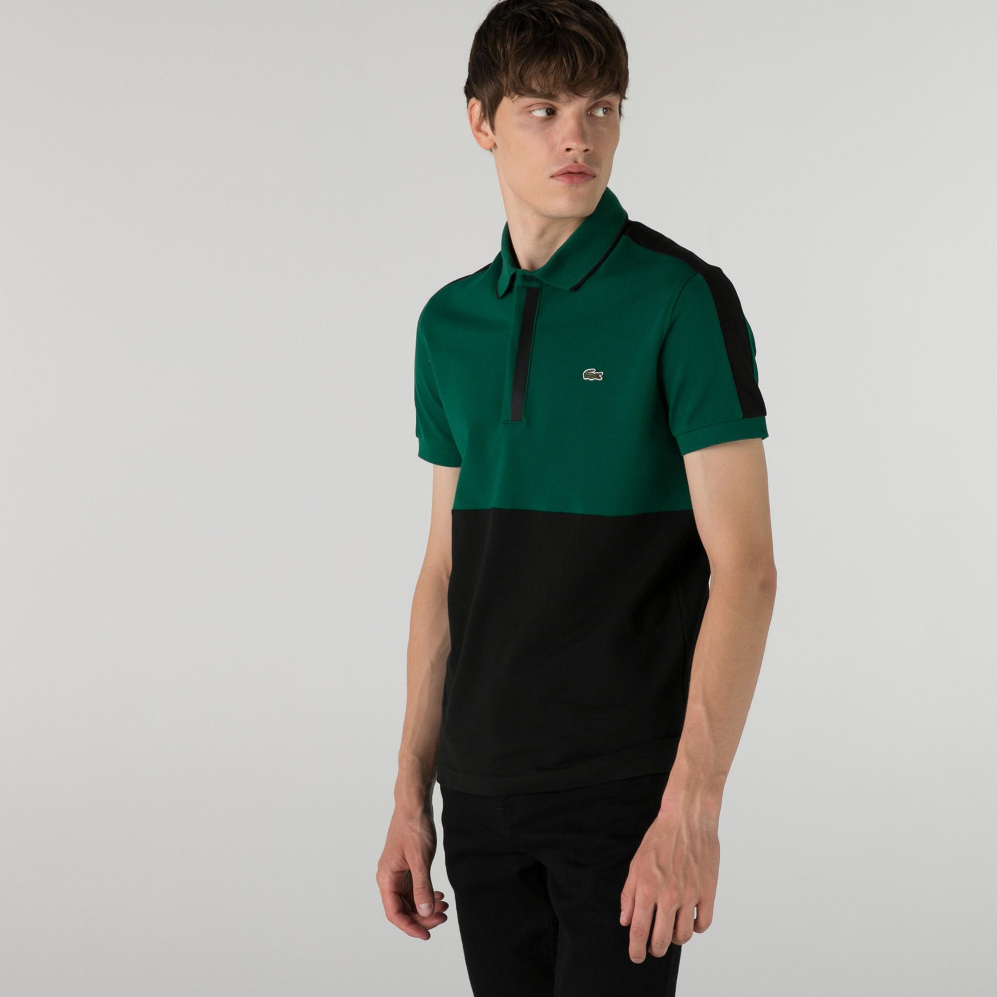 Lacoste Erkek Regular Fit Renk Bloklu Yeşil Polo