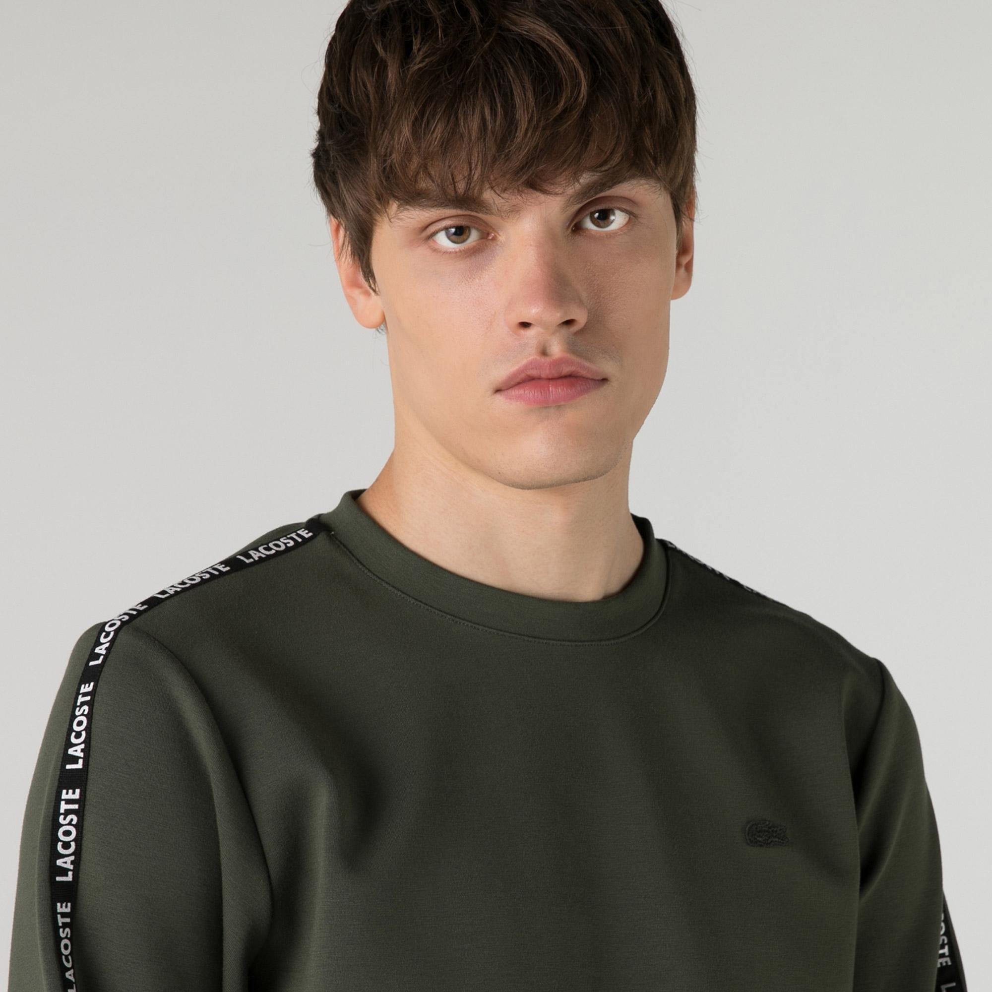 Lacoste Erkek Slim Fit Bisiklet Yaka Haki Sweatshirt