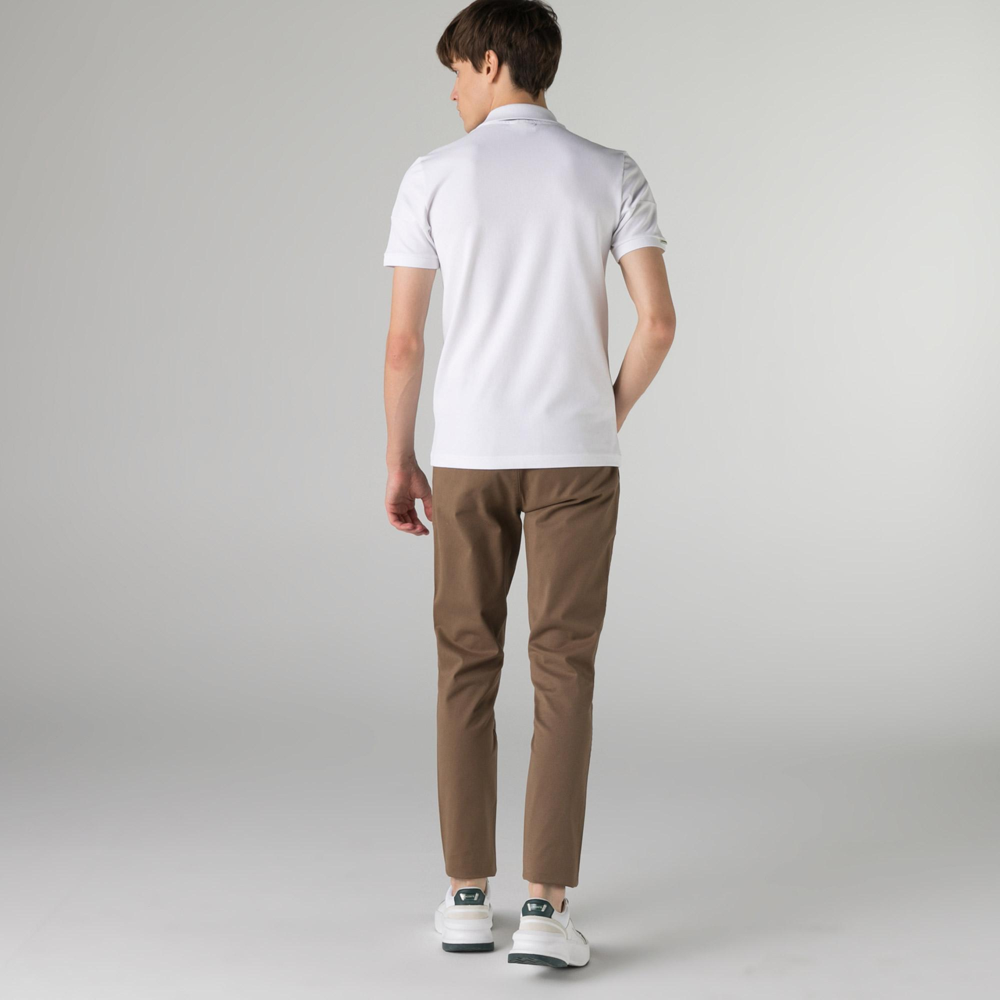 Lacoste Erkek Slim Fit Desenli Kahverengi Pantolon