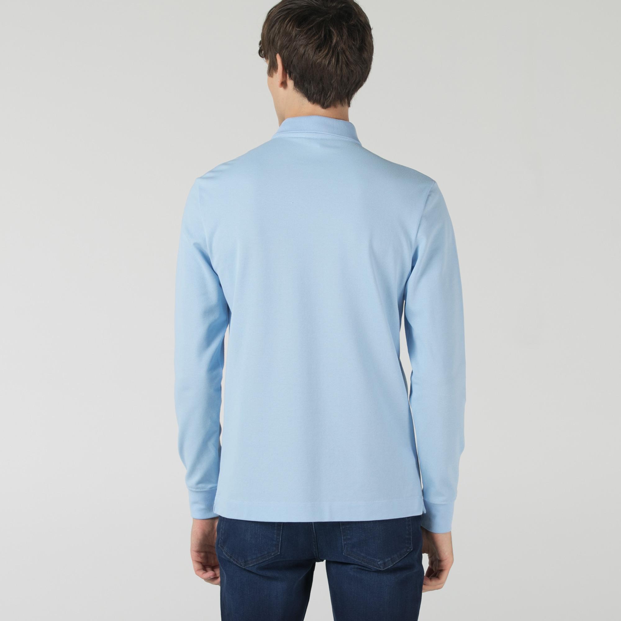 Lacoste Erkek Regular Fit Uzun Kollu Mavi Polo