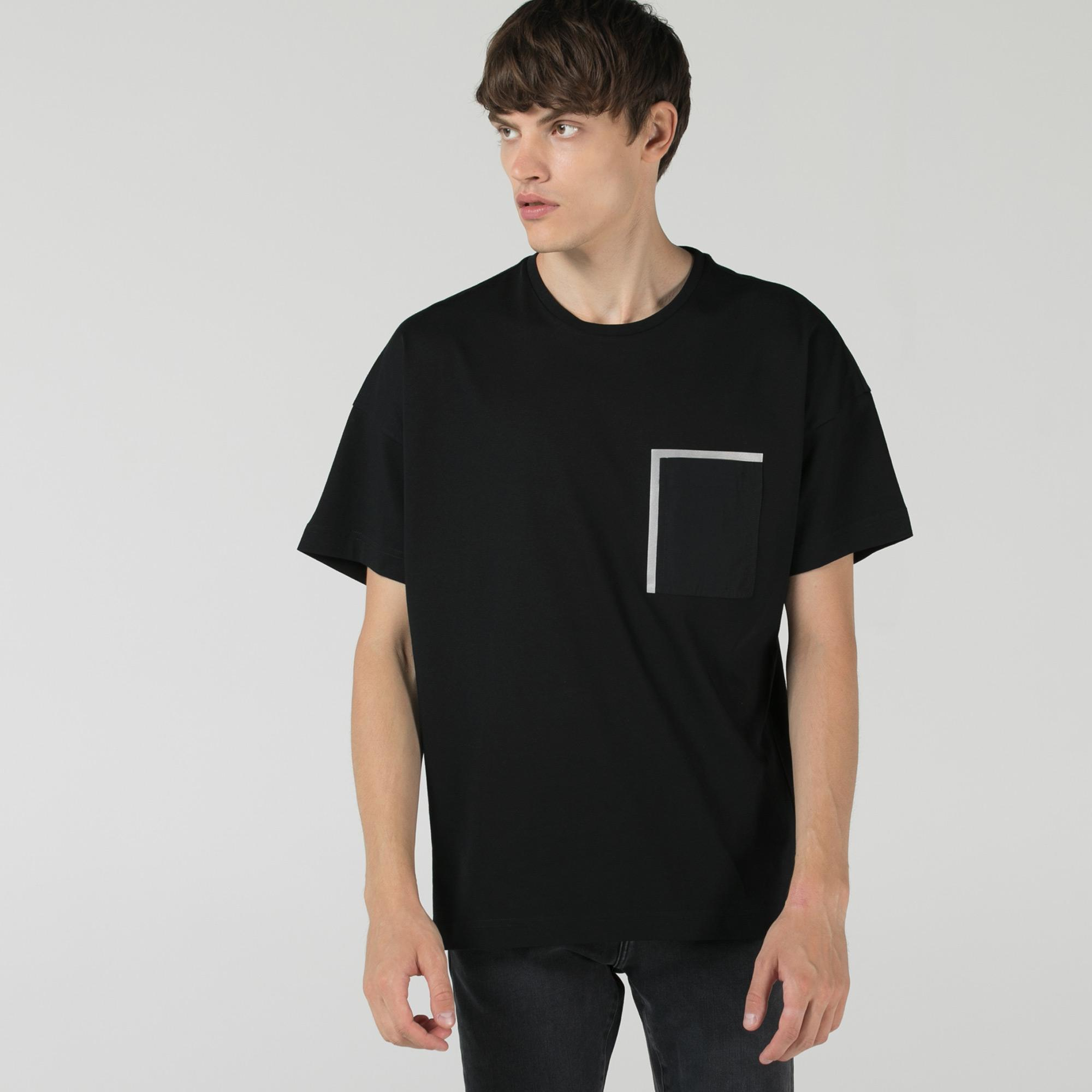 Lacoste Erkek Relaxed Fit Bisiklet Yaka Siyah T-Shirt