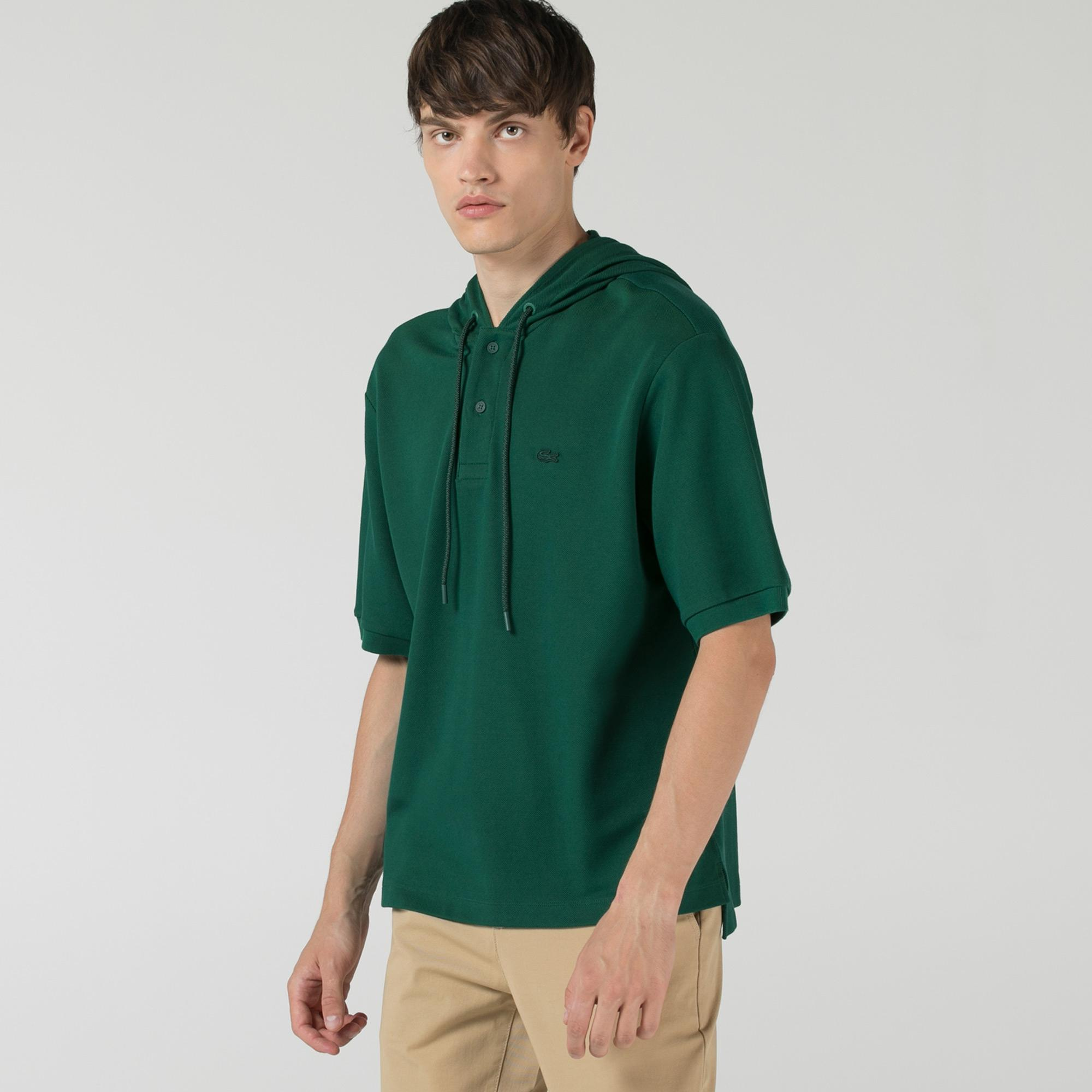 Lacoste Erkek Relaxed Fit Kapüşonlu Yeşil Polo
