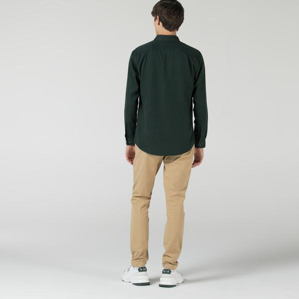 Lacoste Erkek Slim Fit Krem Pantolon