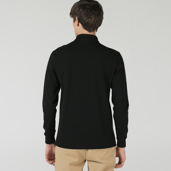 Lacoste Erkek Regular Fit Uzun Kollu Siyah Polo