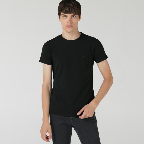 Lacoste Erkek Regular Fit Bisiklet Yaka Siyah T-Shirt