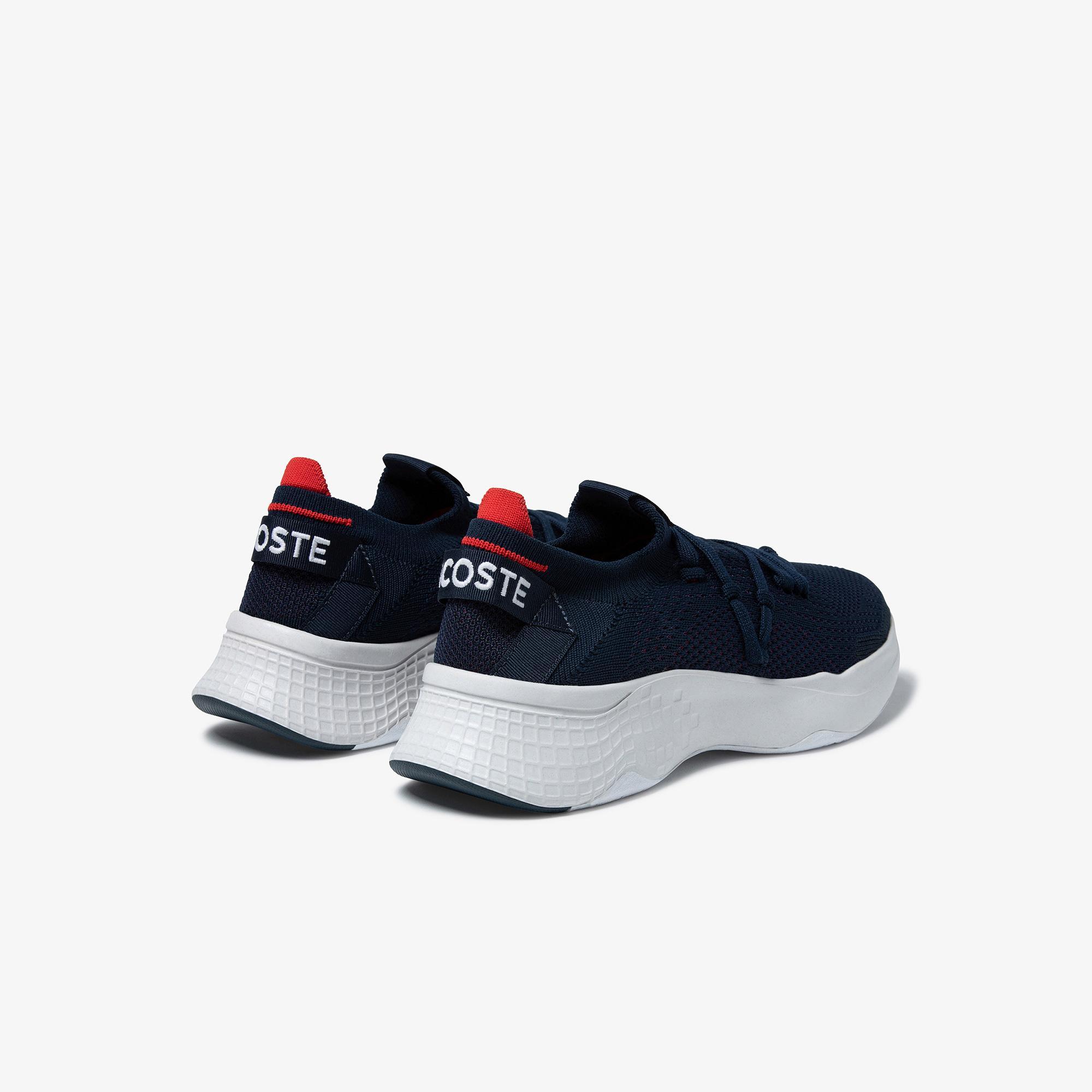 Lacoste Court-Drive Knit 0121 2 Sma Erkek Lacivert - Kırmızı Sneaker