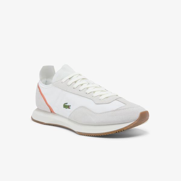 Lacoste Match Break 0121 1 Sma Erkek Beyaz - Kahverengi Sneaker