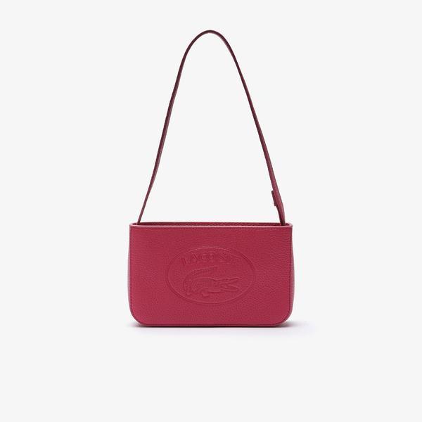 Lacoste Croco Crew Kadın Deri Kırmızı Çanta
