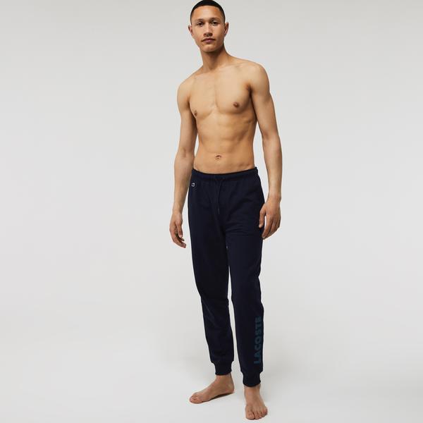 Lacoste Erkek Baskılı Lacivert Pijama Altı