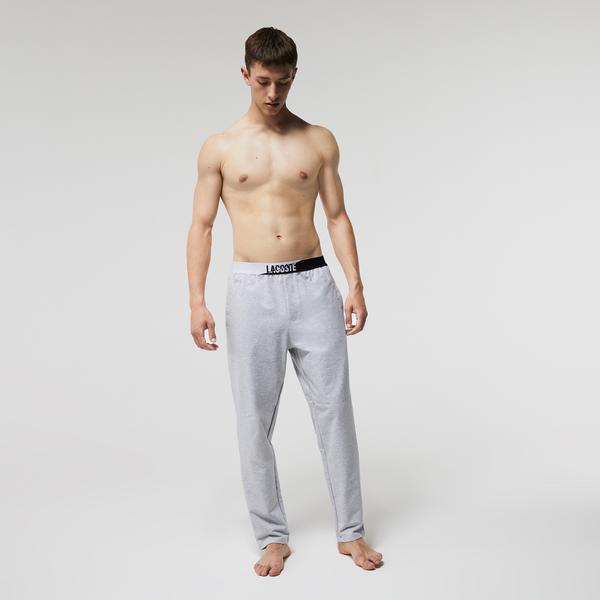 Lacoste Erkek Gri Pijama Altı