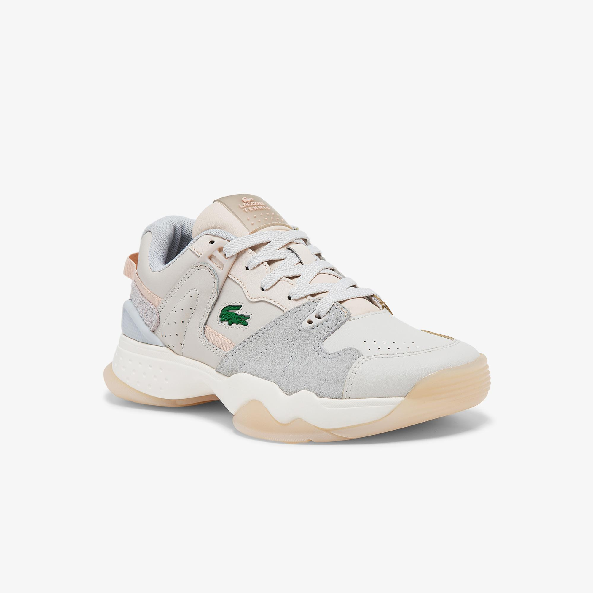 Lacoste T-Point 0121 3 Sfa Kadın Deri Beyaz - Pembe Sneaker