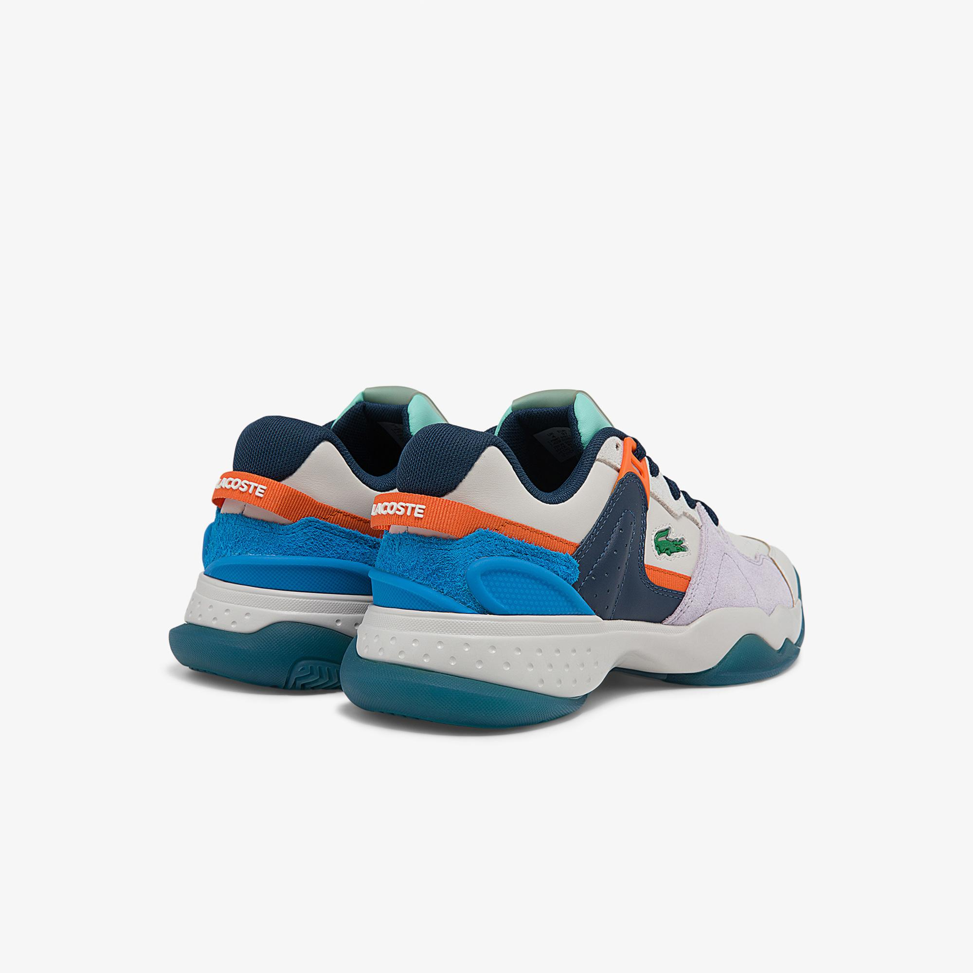 Lacoste T-Point 0121 1 Sfa Kadın Deri Beyaz - Mor Sneaker